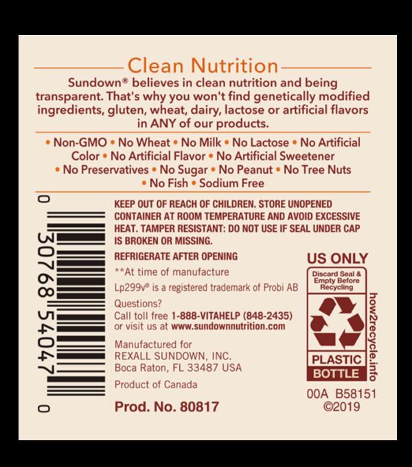 probiotic label
