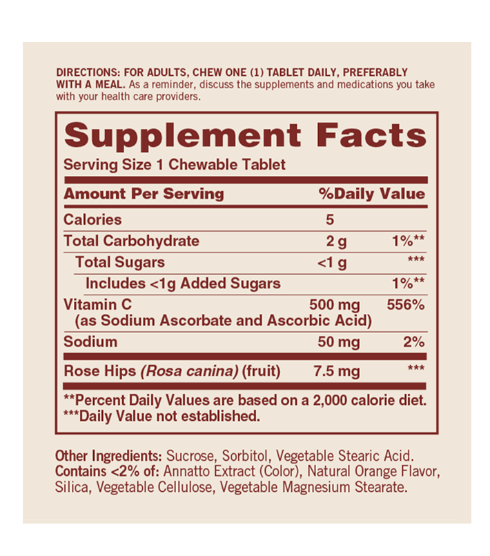 vitamina c masticable