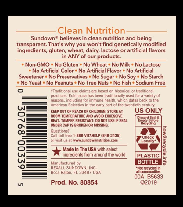 echinacea label